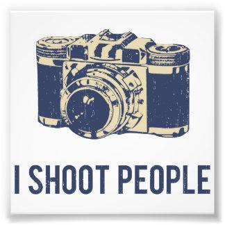 私は人々の写真撮影のカメラを撃ちます フォトプリント