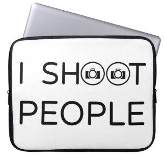 私は人々を撃ちます ラップトップスリーブ