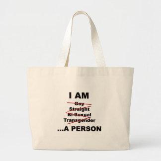 私は人です ラージトートバッグ
