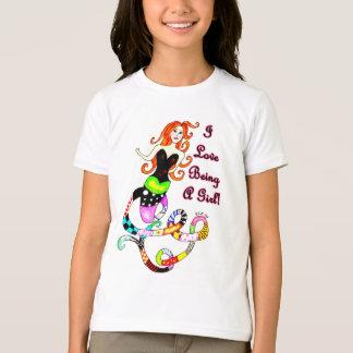 """""""私は人魚女の子""""のであることを愛します Tシャツ"""