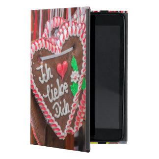 私は休日にジンジャーブレッドのハート愛します iPad MINI ケース