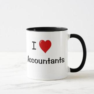 私は会計士-タイプの会計士--を愛します マグカップ