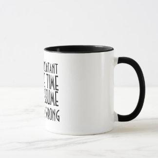 私は会計士、時間を節約するために、仮定しようです マグカップ