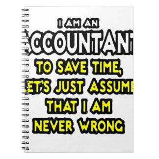 私は会計士、時間を節約するために、仮定しよう…です ノートブック