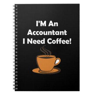 私は会計士、私必要としますコーヒーをです! ノートブック