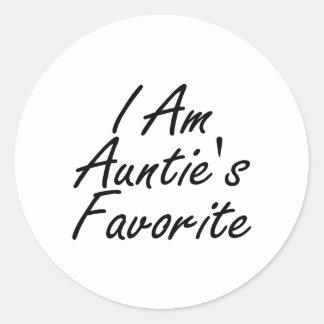 私は伯母さんのですFavorite ラウンドシール