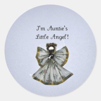 私は伯母さんのですLittle Angel ラウンドシール