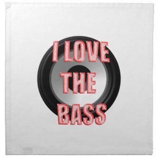 私は低音を愛します ナプキンクロス