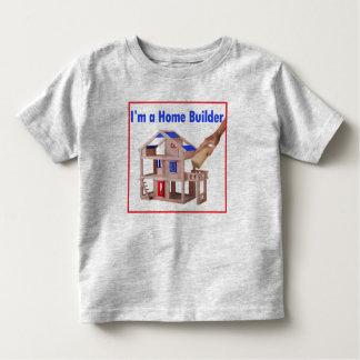私は住宅建築業者の幼児のTシャツです トドラーTシャツ