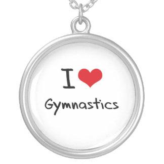 私は体操を愛します シルバープレートネックレス