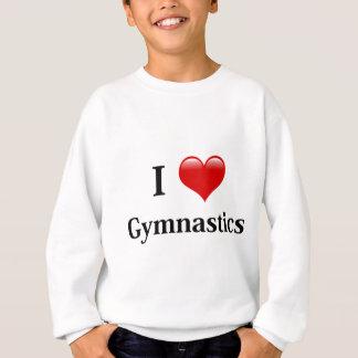 私は体操を愛します スウェットシャツ