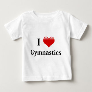 私は体操を愛します ベビーTシャツ
