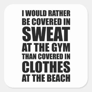 私は体育館の汗でむしろ覆われます スクエアシール