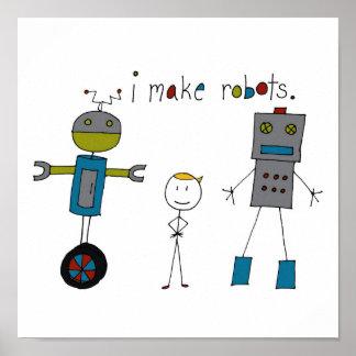 私は作りますロボット(男の子)を ポスター