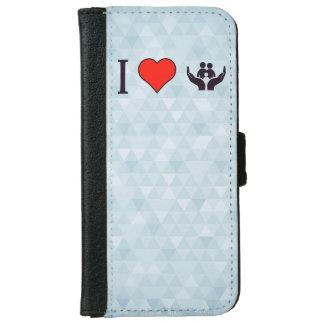 私は保護を愛します iPhone 6/6S ウォレットケース