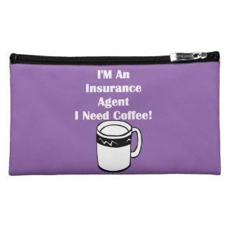 私は保険代理店、私必要としますコーヒーをです! コスメティックバッグ