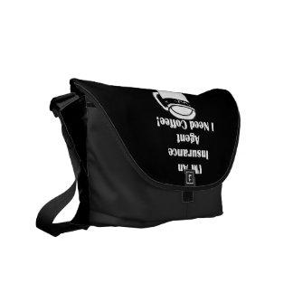 私は保険代理店、私必要としますコーヒーをです! メッセンジャーバッグ