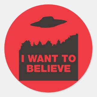 私は信じたいと思います 丸形シール・ステッカー