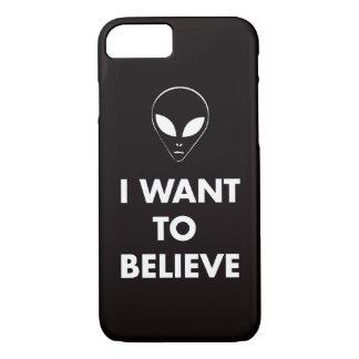 私は信じたいと思います(黒) iPhone 8/7ケース