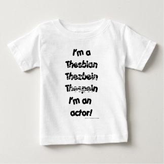 私は俳優はです(淡色のプロダクトのために) ベビーTシャツ