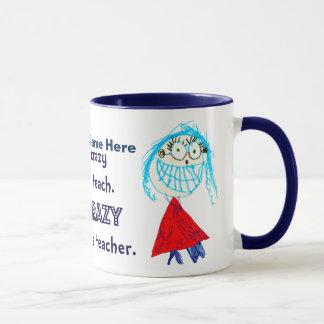 私は先生-名前入りなコップであることについて熱狂するです マグカップ