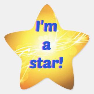私は光沢のある星のステッカーです 星シール