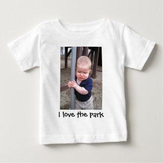 私は公園を愛します ベビーTシャツ
