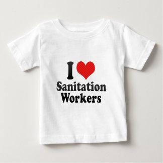 私は公衆衛生の労働者を愛します ベビーTシャツ