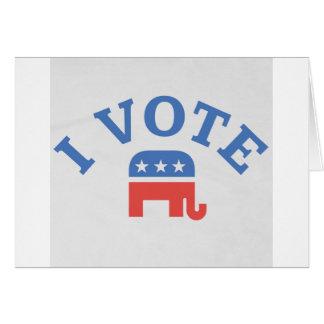 私は共和党員を投票します カード