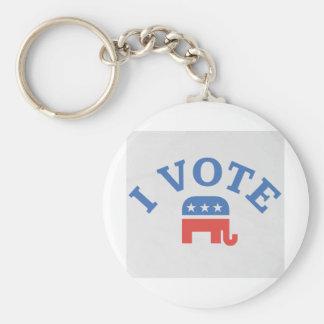 私は共和党員を投票します キーホルダー