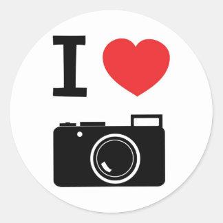 私は写真撮影を愛します ラウンドシール
