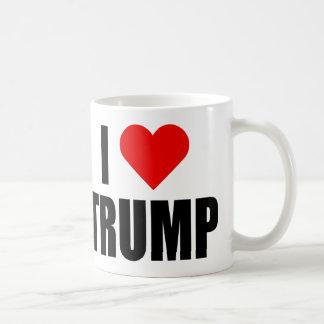 """""""私は切札""""を愛します(右利きの) コーヒーマグカップ"""