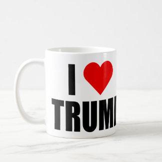 """""""私は切札""""を愛します(左利きの) コーヒーマグカップ"""