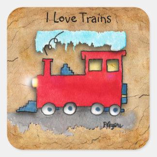 私は列車を愛します スクエアシール