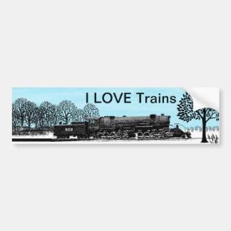 私は列車を愛します バンパーステッカー