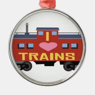 私は列車を愛します メタルオーナメント