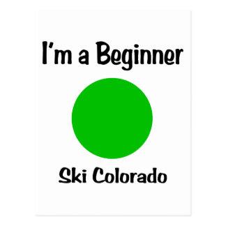 私は初心者のスキーコロラド州です ポストカード