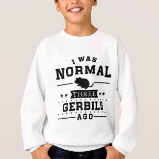 私は前に正常なスナネズミ3匹でした スウェットシャツ