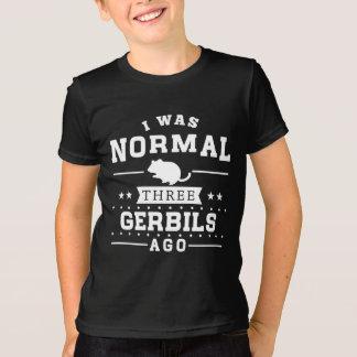 私は前に正常なスナネズミ3匹でした Tシャツ