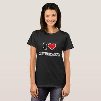 私は割れたピースープを愛します Tシャツ