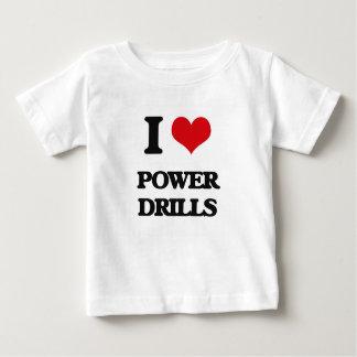私は力ドリルを愛します ベビーTシャツ