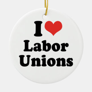 私は労働組合- .PNG --を愛します セラミックオーナメント