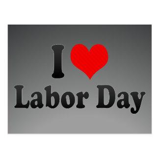 私は労働者の日を愛します ポストカード