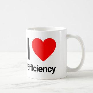 私は効率を愛します コーヒーマグカップ