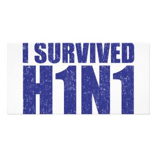 私は動揺してな青のH1N1を生き延びました カード