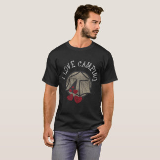 私は動揺してなGlampingのキャンプのおもしろいなキャンプを愛します Tシャツ