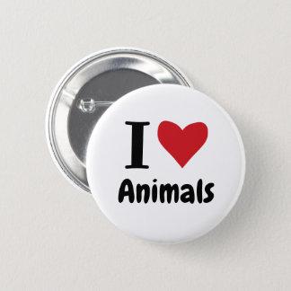 私は動物を愛します 缶バッジ