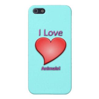 私は動物を愛します! iPhone SE/5/5sケース