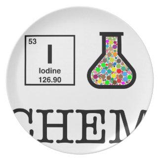 私は化学を愛します プレート
