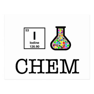 私は化学を愛します ポストカード